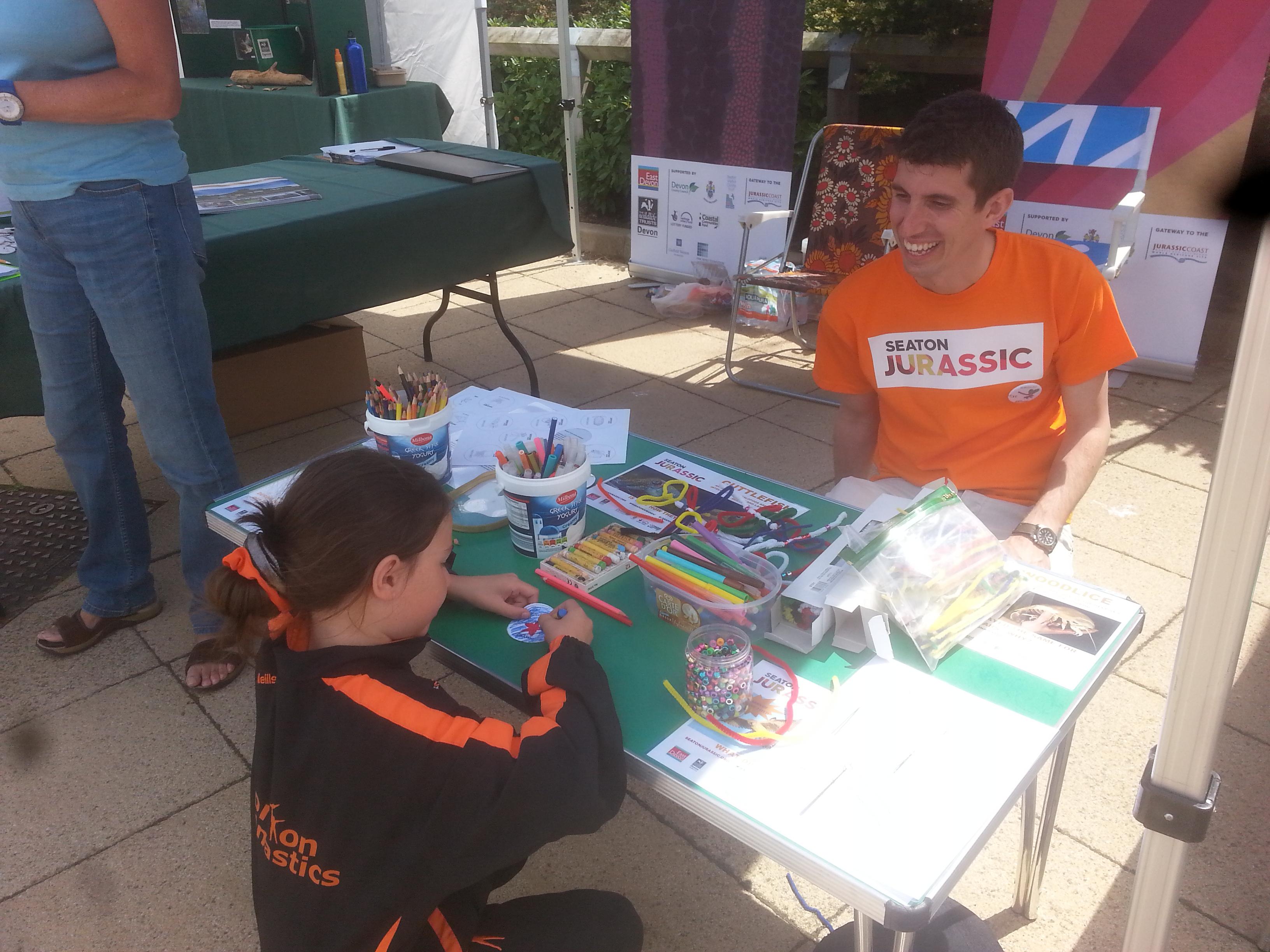 Seaton Jurassic Staff Running Badge Making Activity for Children