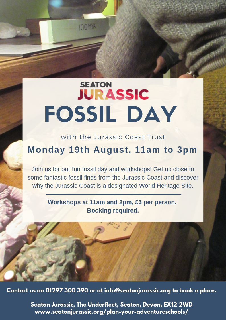 Fossil Day- 19th August Workshops at 11am and 2pm